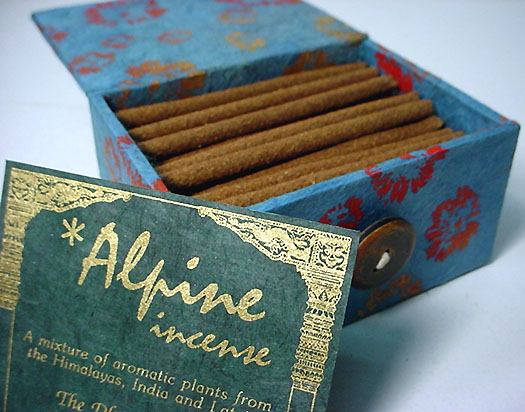 Tibetan all-natural incense from the Himalayas - Medicinal incense, 		ayurvedic incense, and ritual incenses available