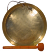 temple gongs, tibetan 