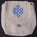 HEMP Bags and Hemp purse handbags embroidered with the Buddhist symbol the Tibetan Knot of Eternity