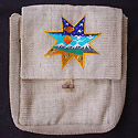 Hemp handbag hemp purse from Nepal -  cool embroidery - star galaxy universe pattern