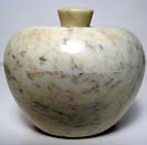 marble bowl stone container carved round stone pot