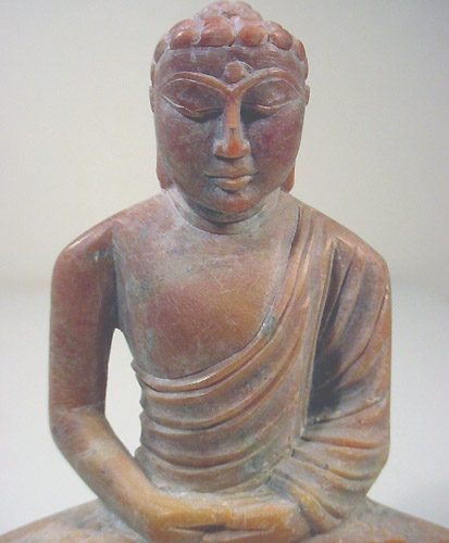 Meditation Buddha statue carved from marble stone of buddha meditating