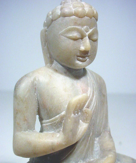 stone buddha protection statue